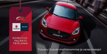 Suzuki romutuspalkkio - AKR-mainoskampanja
